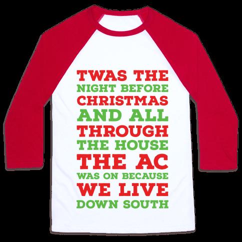 twas the night before christmas baseball tee - Twas The Night Before Christmas Funny