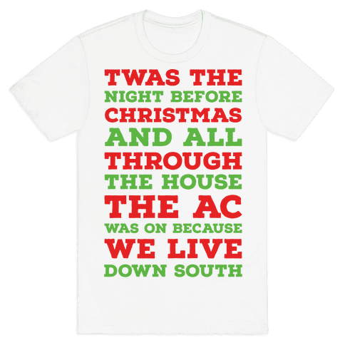 Twas The Night Before Christmas  Mens T-Shirt