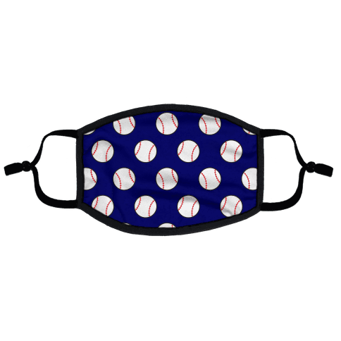 Baseball Pattern Flat Face Mask