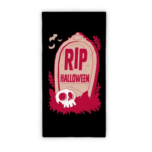 RIP Halloween Beach Towel