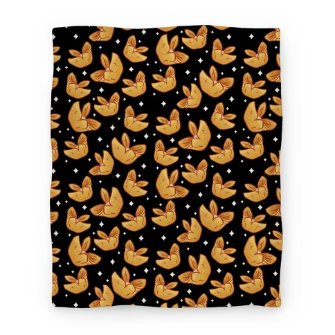 Crab Rangoons Pattern Black Blanket