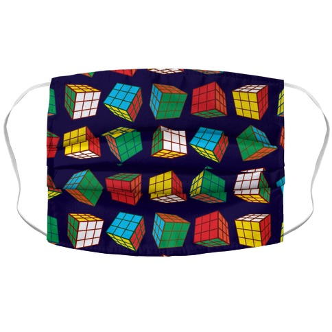 Rubix Cubes Pattern Accordion Face Mask