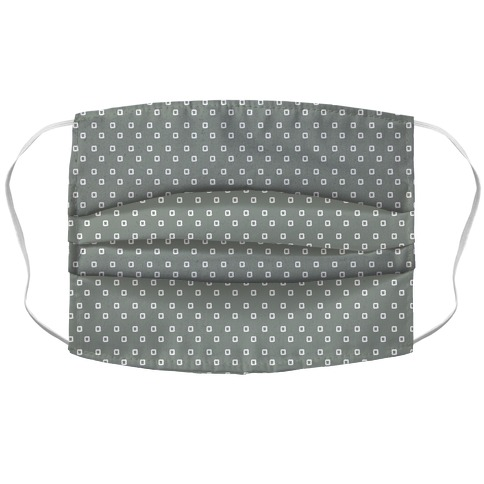 Dainty Squares Pattern Grey Face Mask
