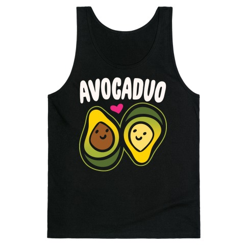 Avocaduo Pairs Shirt White Pritn Tank Top