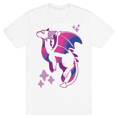 Bi Pride Dragon Mens T-Shirt