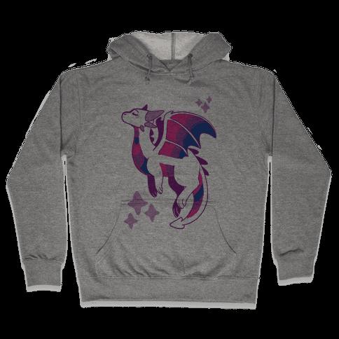 Bi Pride Dragon Hooded Sweatshirt