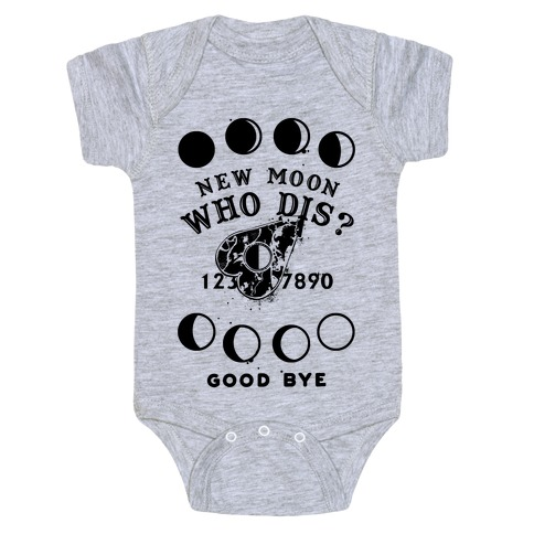 New Moon Who Dis Ouija Board Planchette Moon Phase Witch Baby Onesy