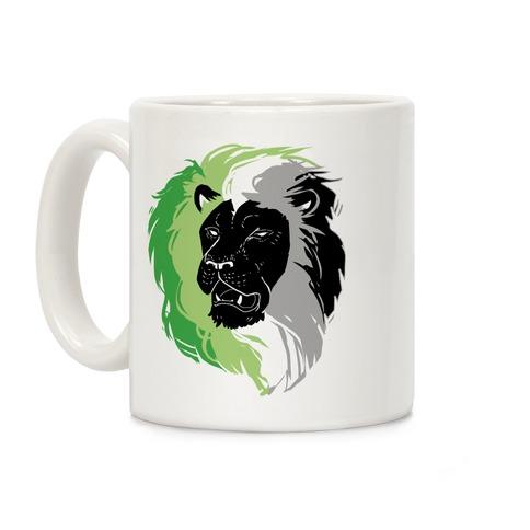 Aromantic Lion Pride Coffee Mug