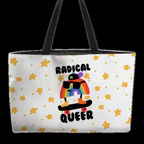 Radical Queer Rainbow Weekender Tote