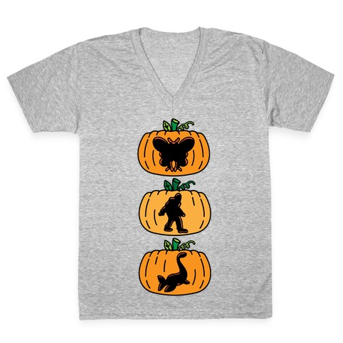 Cryptid Carvings V-Neck Tee Shirt