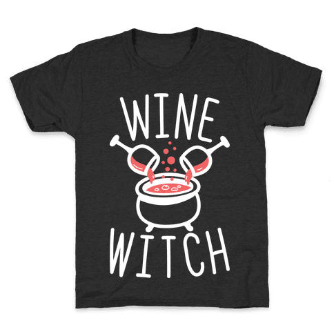 Wine Witch (White) Kids T-Shirt