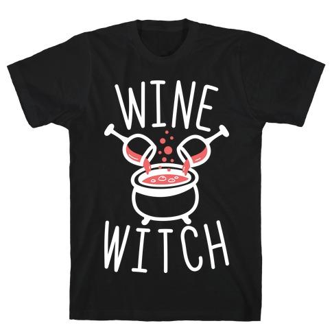 Wine Witch (White) T-Shirt
