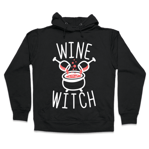 Wine Witch (White) Hooded Sweatshirt