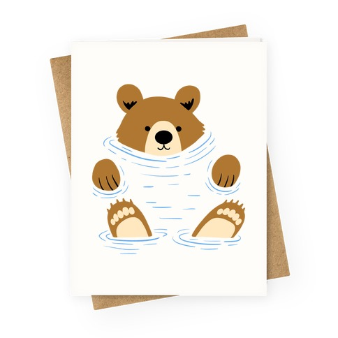 River Bear Greeting Card