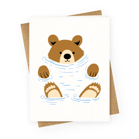 River Bear Greeting Card