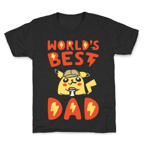 World's Best Dad Parody White Print Kids T-Shirt