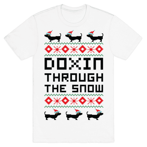Doxin Through the Snow Mens T-Shirt