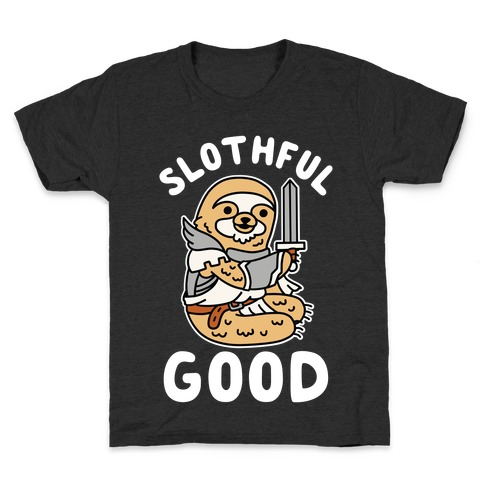 Slothful Good Sloth Paladin Kids T-Shirt