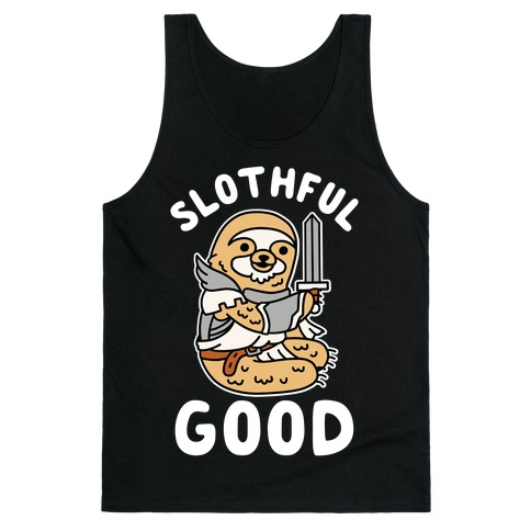 Slothful Good Sloth Paladin Tank Top