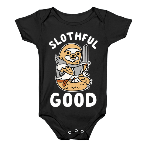 Slothful Good Sloth Paladin Baby Onesy