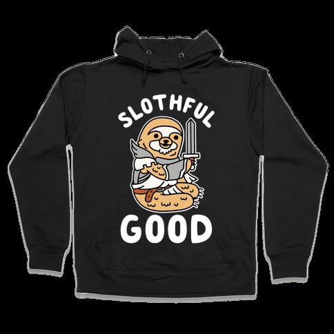Slothful Good Sloth Paladin Hooded Sweatshirt