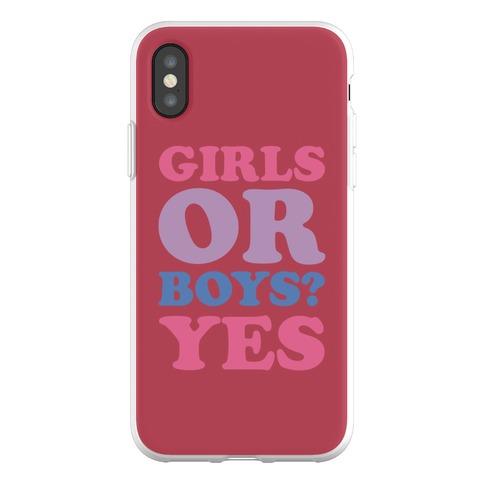 Girls Or Boys? Yes Phone Flexi-Case