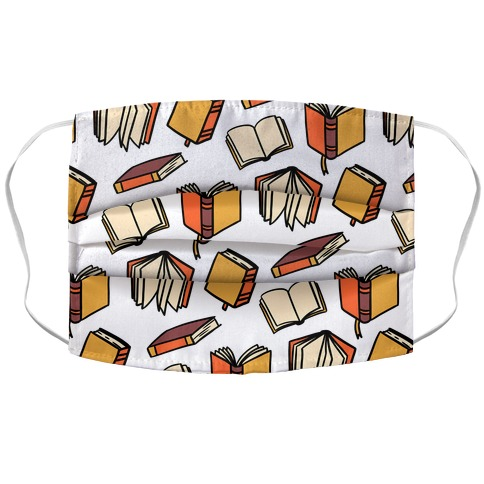 Book Reading Pattern Accordion Face Mask