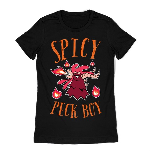 Spicy Peck Boy Womens T-Shirt
