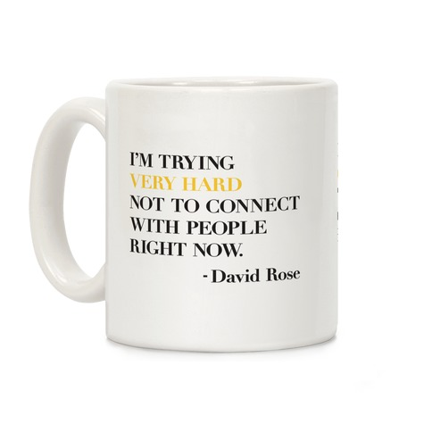 I'm Trying Very Hard Not To Connect With People Right Now Coffee Mug