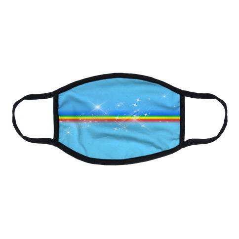 Rainbow Sparkle Flat Face Mask