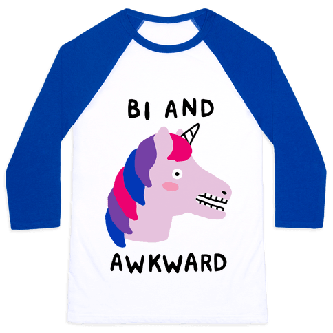 Bi And Awkward Baseball Tee