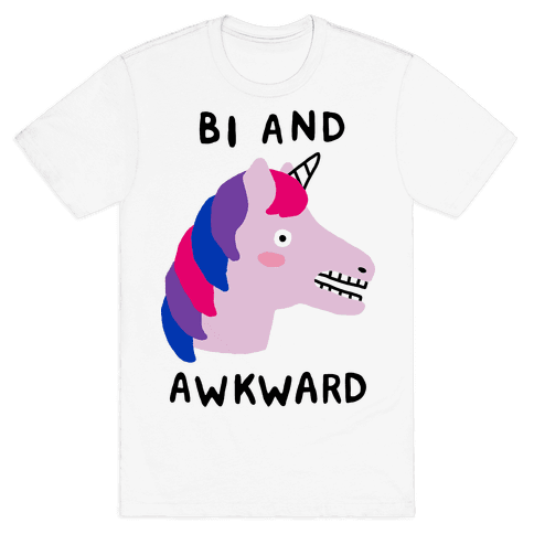 Bi And Awkward Mens T-Shirt