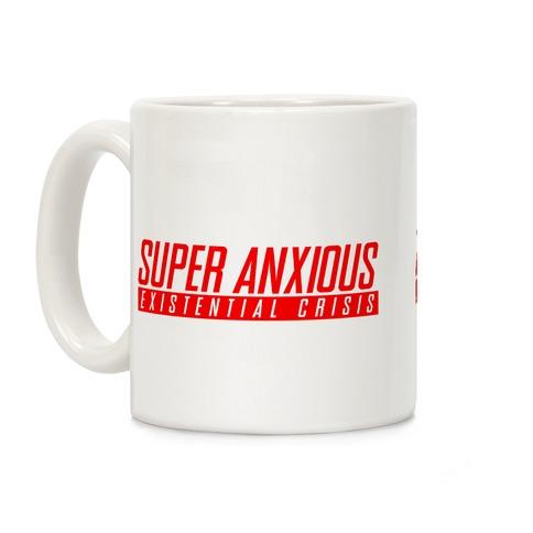 Super Anxious Existential Crisis SNES Parody Coffee Mug