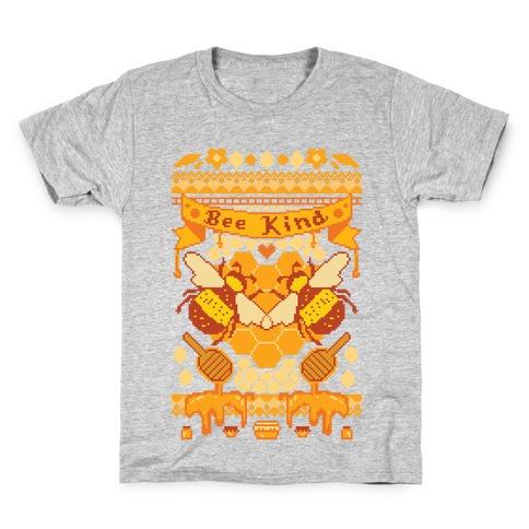Bee Kind Sweater Pattern Kids T-Shirt