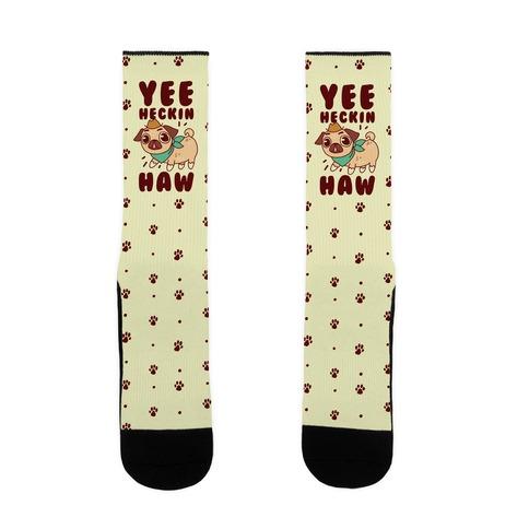 Yee Heckin Haw Pug Sock