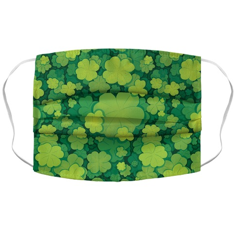 Clover Patch Pattern Accordion Face Mask