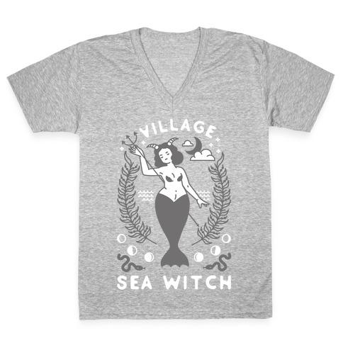 Village Sea Witch V-Neck Tee Shirt