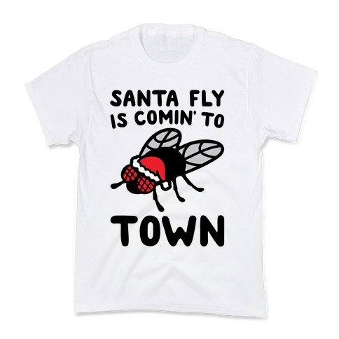 Santa Fly Is Coming To Town  Kids T-Shirt