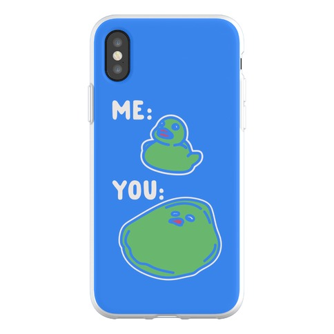 Me vs You Melting Ducky Meme Phone Flexi-Case
