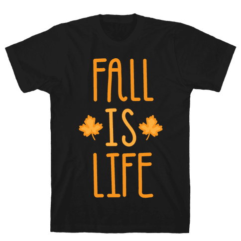 Fall Is Life (White) Mens T-Shirt