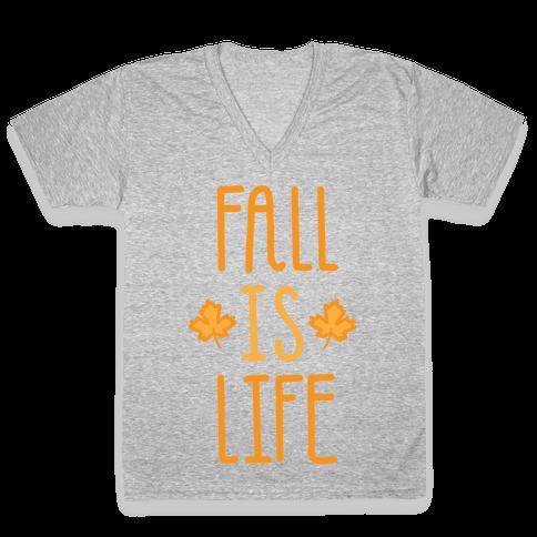 Fall Is Life (White) V-Neck Tee Shirt