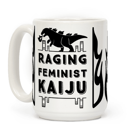 Raging Feminist Kaiju Coffee Mug