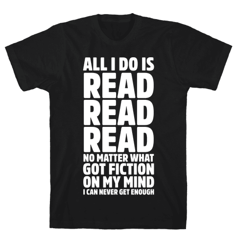 All I Do Is Read Wht Mens T-Shirt