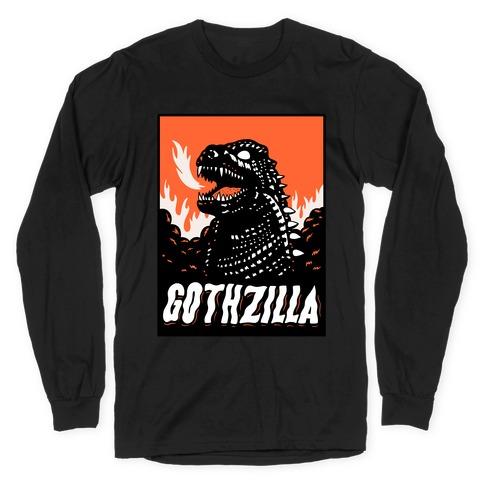 Gothzilla Goth Godzilla Long Sleeve T-Shirt