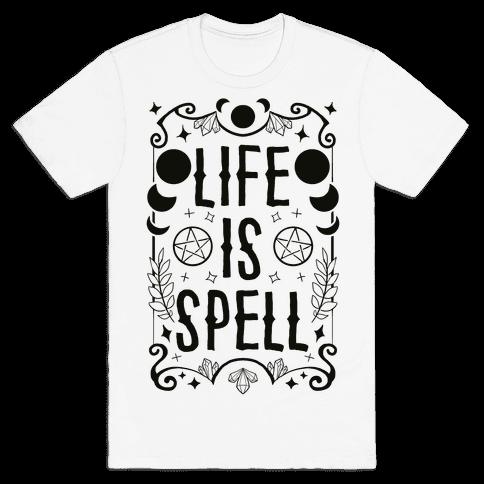 Life Is Spell Mens/Unisex T-Shirt