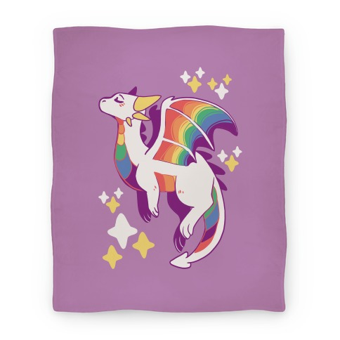 Gay Pride Dragon Blanket