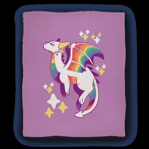 Gay Pride Dragon Blanket