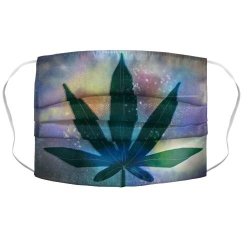 Weed Leaf Galaxy Accordion Face Mask