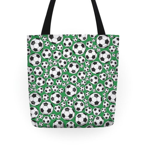 Soccer Balls Pattern Tote