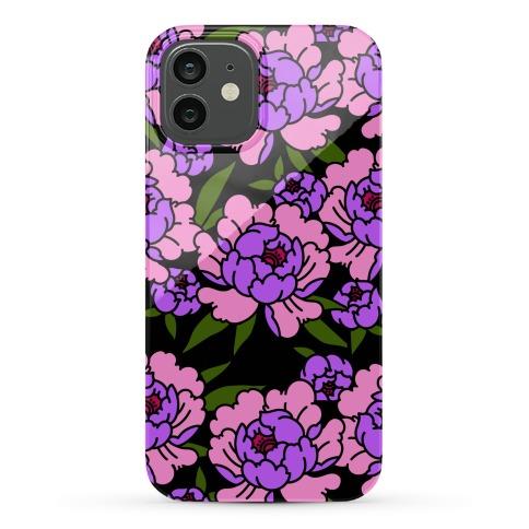 Traditional Tattoo Peony Purple Phone Case